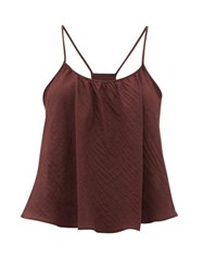 Loup Charmant Scoop Neck Cotton Cami Top Dark Purple