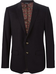 Dolce And Gabbana Two Button Blazer Pink And Purple