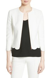 Ted Baker Women's London Heraly Crop Jacket Ivory