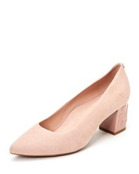 Taryn Rose Marigold 60Mm Heel Suede Pumps Chai