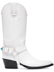 Calvin Klein 205W39nyc White Tex Tammy 50 Leather Long Boots