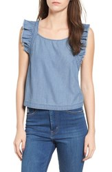 Bp. Chambray Apron Tank Medium Light Wash