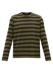 Barena Venezia Luigi Striped Cotton Long Sleeved T Shirt Khaki