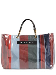 Marni Glossy Grip Large Square Tote Bag Lacquer