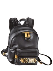 Moschino Backpack Printed Leather Pouch
