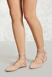 Forever 21 Lace Up Pointed Toe Flats