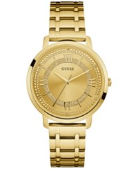 Guess Women's Gold Tone Stainless Steel Bracelet Watch 40Mm U0933l2