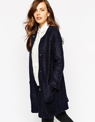 Ax Paris Jacket With Big Pockets Navy
