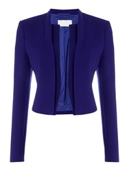 Hugo Boss Cropped Jacket With Long Sleeves Lilac