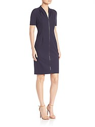 Elie Tahari Frances Sheath Dress Navy