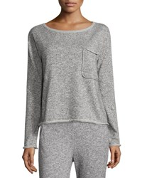 Atm Anthony Thomas Melillo Sparkle Pullover Sweatshirt Gray Light Gray