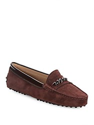 Tod's Leather Slip On Moccasins Brown