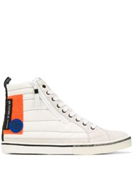 Diesel Colour Block Hi Top Sneakers White