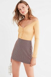 Urban Outfitters Uo Seila Plunging Off The Shoulder Top Beige