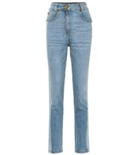 Versace High Rise Skinny Jeans Blue