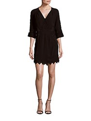 Iro Fedra Embroidered Sheer Back Dress Black
