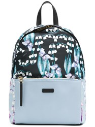 Furla Butterfly Print Backpack Blue