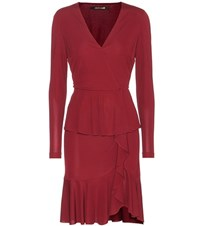 Roberto Cavalli Jersey Wrap Dress Red