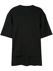 Wooyoungmi Double Layer T Shirt Black
