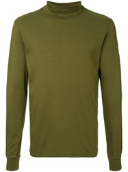 Attachment Roll Neck T Shirt Green