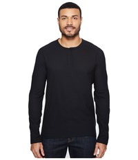 Mountain Hardwear Mhw Ac Long Sleeve Henley Black Men's Long Sleeve Pullover
