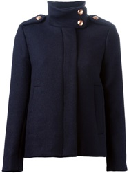 See By Chloe Military Style Jacket Blue