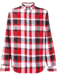 Tommy Hilfiger Plaid Button Down Shirt Red