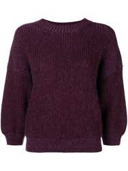 3.1 Phillip Lim Puff Sleeve Sweater Pink And Purple
