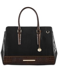 Brahmin Tuscan Tri Texture Finley Carryall Tote Black