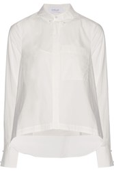 Derek Lam 10 Crosby By Layered Cotton Poplin Shirt And Camisole Set White