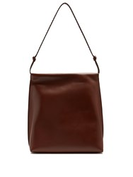 The Row Wander Leather Shoulder Bag Tan