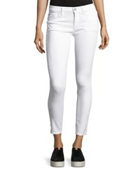 Hudson Nico Mid Rise Skinny Ankle Jeans White