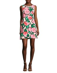 Taylor Sleeveless Rose Print Dress Petal Pink