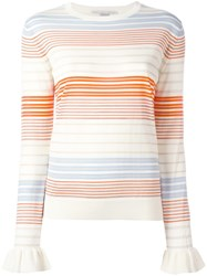 Stella Mccartney Ruffled Cuff Jumper Nude Neutrals