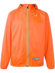 Les Artists Art Ists Zip Up Jacket Yellow Orange