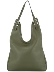 Hermes Vintage Massai Shoulder Bag Green