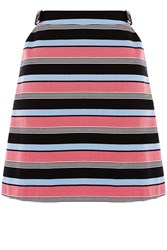 Oasis Stripe Button Detail Mini Multi Coloured Multi Coloured