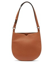 Valextra Hobo Weekend Medium Leather Bag Tan