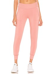 Beyond Yoga Foldover Long Sweatpant Pink