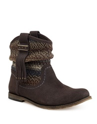 The Sak Jezebelle Suede And Knit Boots Brown