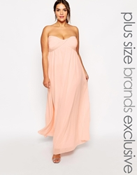 Truly You Bandeau Maxi Dress Pink