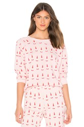 Wildfox Couture Lil Claus Fiona Sweatshirt Pink