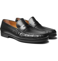 Hugo Boss Riviera Leather Penny Loafers Black