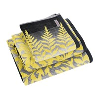 Clarissa Hulse Filix Towel Charcoal Grey Yellow