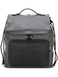 Dolce And Gabbana Flap Backpack Grey