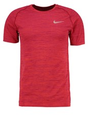 Nike Performance Sports Shirt Track Red True Berry Reflective Silver