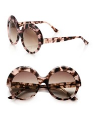 Cutler And Gross Oversized 56Mm Round Sunglasses Pink Havana