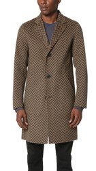 Theory Delancey Westfir Overcoat Camel Multi