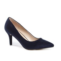 Paradox London Pink Elisa Mid Heel Court Shoes Navy