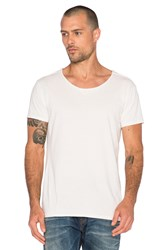 Scotch And Soda Home Alone Short Sleeve Tee With Twisted Seams White